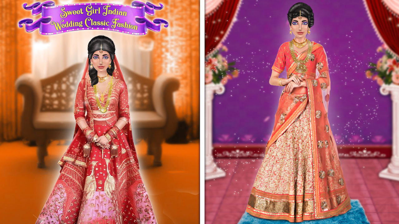 Amazon Com Sweet Girl Indian Wedding Classic Fashion