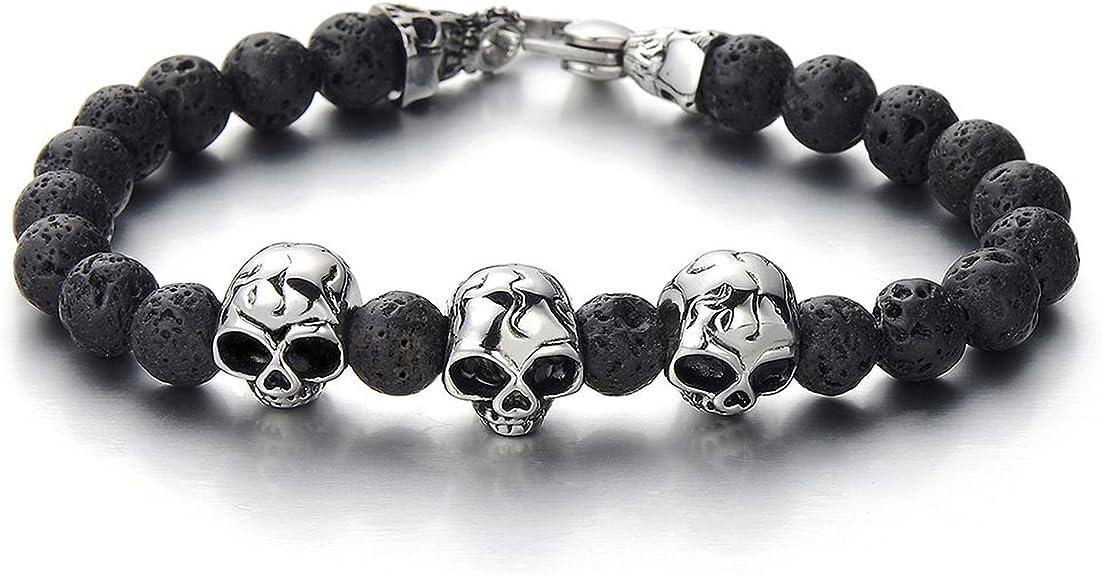 Acheter bracelet tete de mort online 10