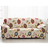 High Elasticity Fabric Sofa Slipcover Couch Cover Protector Three-Seater 74-90 Inch Pattern2