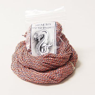 100 Pack Snake Bite String- 100% Polyester Yo-Yo Strings - Coral Snake: Toys & Games