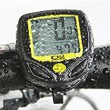 Idealeben 多機能自転車サイクルコンピューター ワイヤレスメーター スピードメーター 走行距離計 走行時間計
