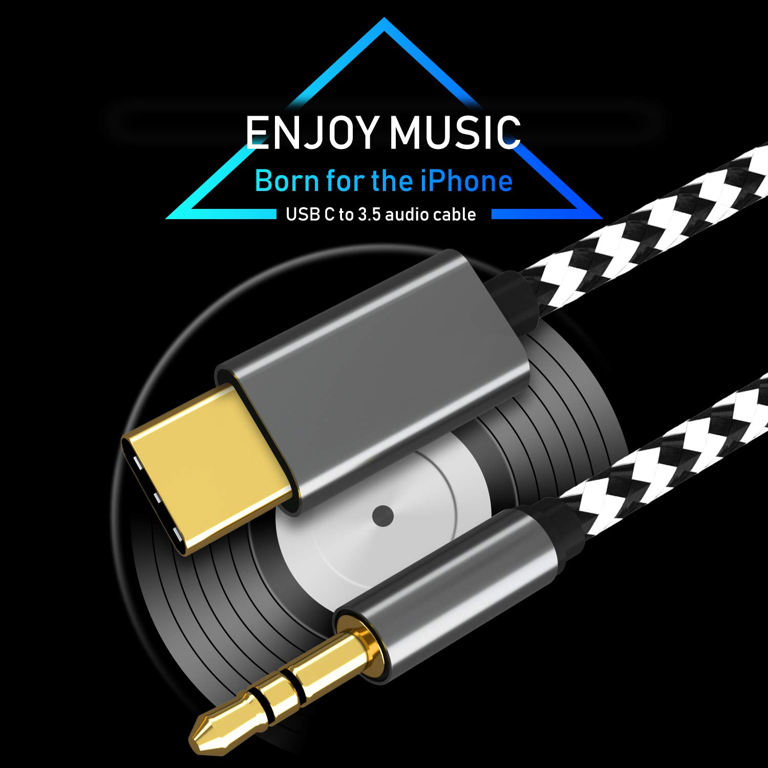 Huawei HTC U11 12 Moto Z Google Pixel 3//3XL//2//2XL USB-C to 3.5mm Aux Cable VIMVIP USB C to 3.5mm Male Headphone Audio Aux Adapter Type C to 3.5mm Car Aux Cord Compatible with Pad Pro 2018 1M