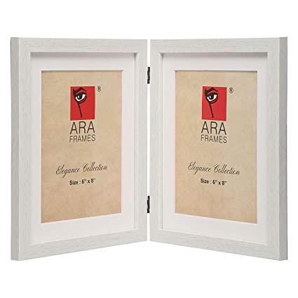 Buy ARA Frames Synthetic Wood Dual Photo Frame - Colour White ...