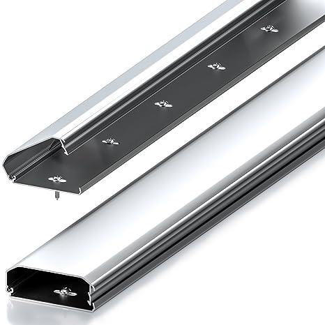 Canaleta universal deleyCON para cables y líneas con innovador mecanismo de plegado lateral y elaborada en