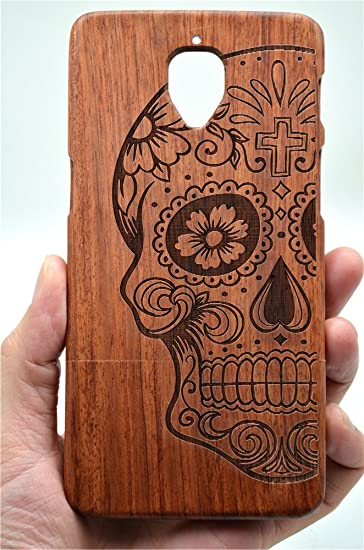 hot sale online 82538 f0ba4 VolksRose OnePlus 3 / OnePlus 3T Wooden Case - Rosewood Skull - Premium  Quality Natural Wooden Case for Your Smartphone and Tablet