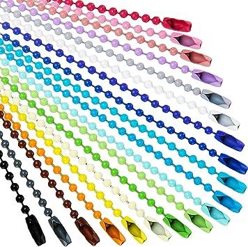 Amazon.com: Cadena de metal con cuentas de bolas de colores ...