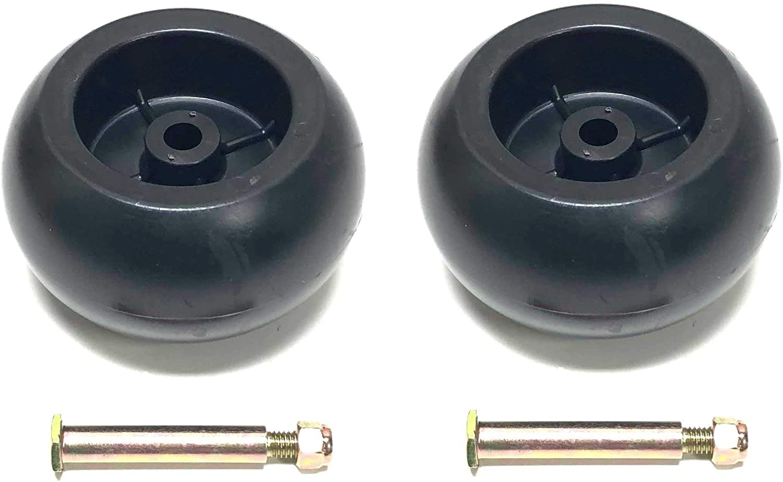 2 Deck Wheels + Shoulder Bolts, Lock Nuts
