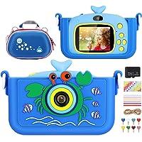 Luclay Cámara Digital para Niños, Selfie Video Cámara Infantil 2.0 Inch 20MP 1080P HD 32GB TF Tarjeta, Estuche para la…