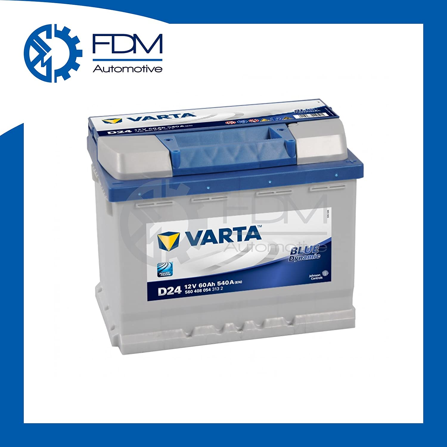 VARTA - 151.08.17 - D24 - Dynamic Blue / 60Ah car battery / battery - Maintenance
