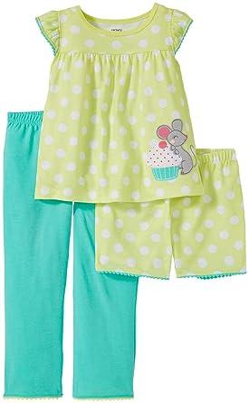 e3e14f39e5d7 Amazon.com  Carter s Girls  3 Piece Pj Set 353g030  Clothing
