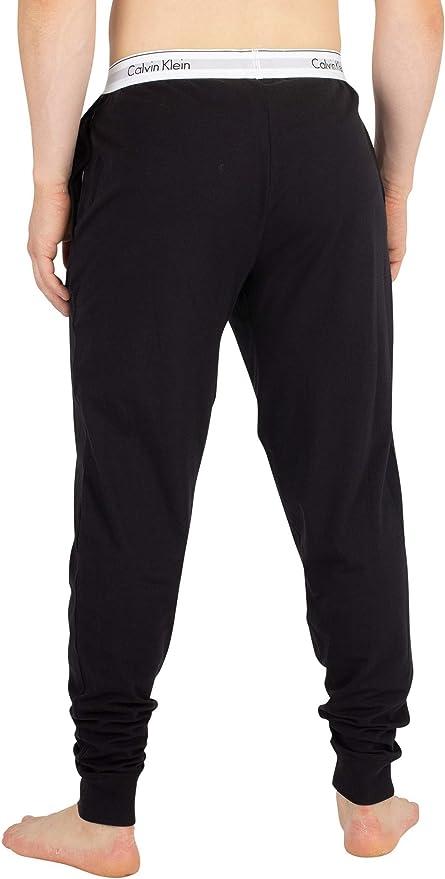 Calvin Klein de los Hombres Logo Pijama Bottoms, Negro