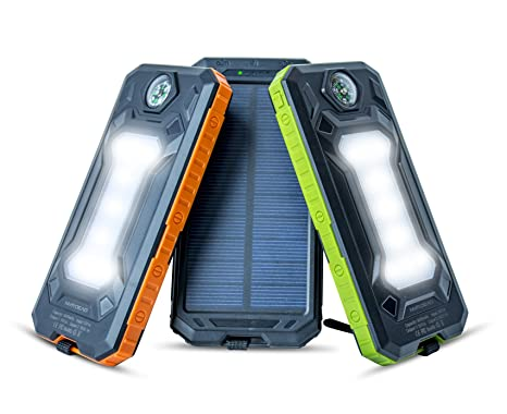 Battery Charger Cases Charitable Universal 8000mah Solar Power Bank Outdoors Solar Power Bank External Battery Portable Charger For All Cellphones With Led Light Cellphones & Telecommunications
