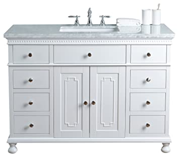 Stufurhome HD 1013W 48 CR Abigail Embellished 48 Inch Single Sink Bathroom  Vanity