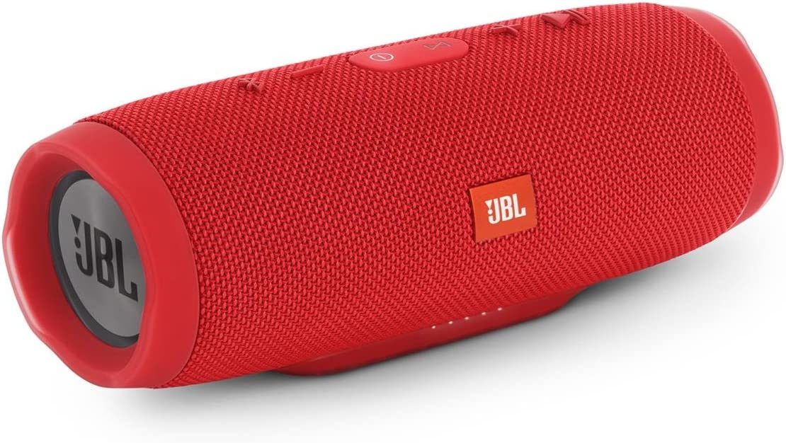 JBL Charge 3 Waterproof Bluetooth Speaker -Red Renewed