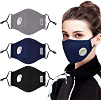 Mouth Mask,Aniwon 3 Pack Anti Dust Pollution Mask with 6 Pcs Activated Carbon Filter Insert Fashion Cotton Face Mask PM2.5 Dust Mask for Men Women