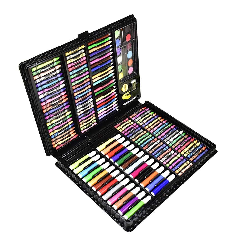 Chengzuoqing Set da coloreare Penna a Pennello Acquerelli Set 168 Super Lusso Dipinto Grande Confezione Regalo Acquerello Pittura ad Olio Acquerello Pen Set Regalo d'Arte per Bambini e Bambini