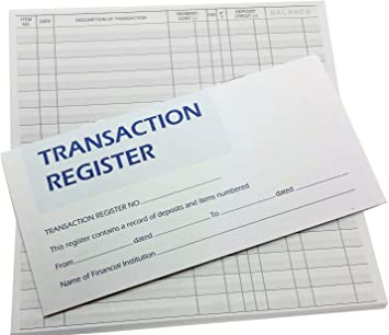 50 Page Checkbook Transaction Registers with 2019-2020-2021 Calendars Set of 3