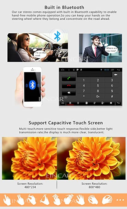 Amazon.com: 8Inch Android4.4 2 Din Car Stereo Touch Screen in Dash on