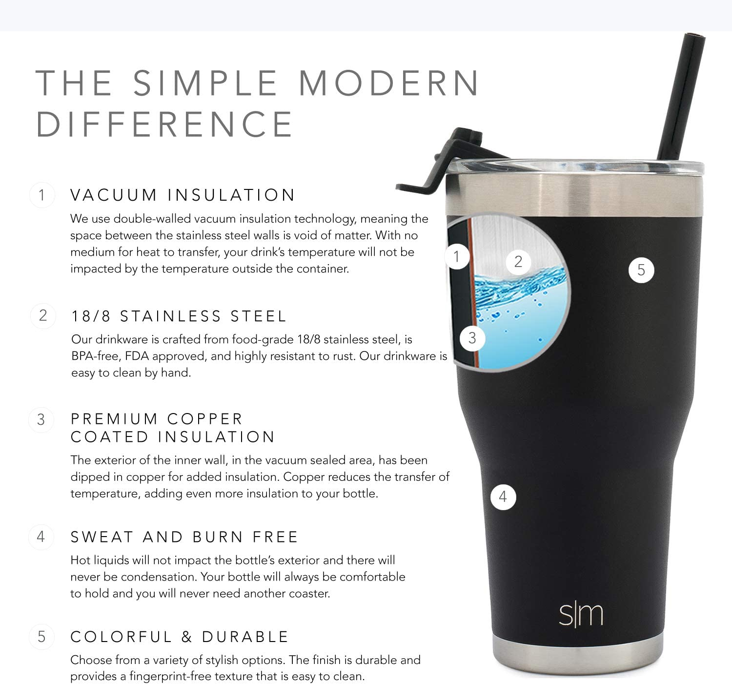 Simple Modern NCAA WSSU Rams 30oz Cruiser Tumbler with Flip Lid and Straw Insulated Stainless Steel Travel Coffee Mug