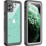 Vapesoon Designed for iPhone 11 Waterproof Case, Built-in Screen Protector Full-Body Clear Call Quality Heavy Duty…
