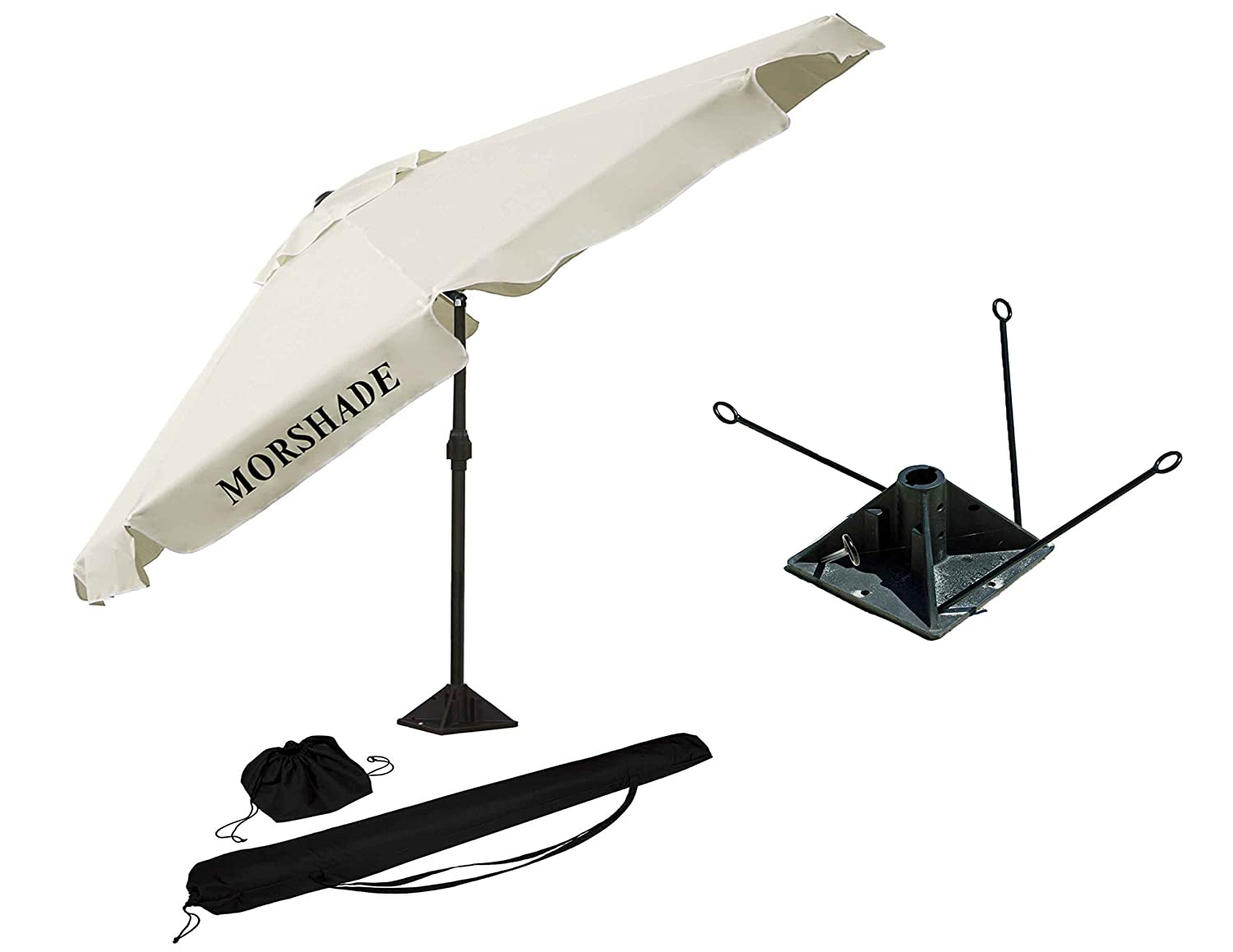 562f8796905a4 MORSHADE 180 Beach and Sport Portable Umbrella with Sand Anchor - 9 Ft