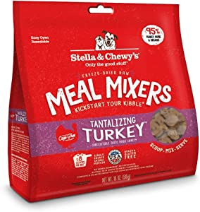 Stella & Chewy's Freeze-Dried Raw Stella's Super Beef Meal Mixers Grain-Free Dog Food Topper