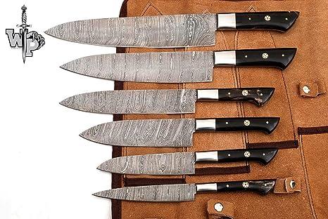 Amazon.com: WP-1071 Juego de cuchillos de cocina de damasco ...