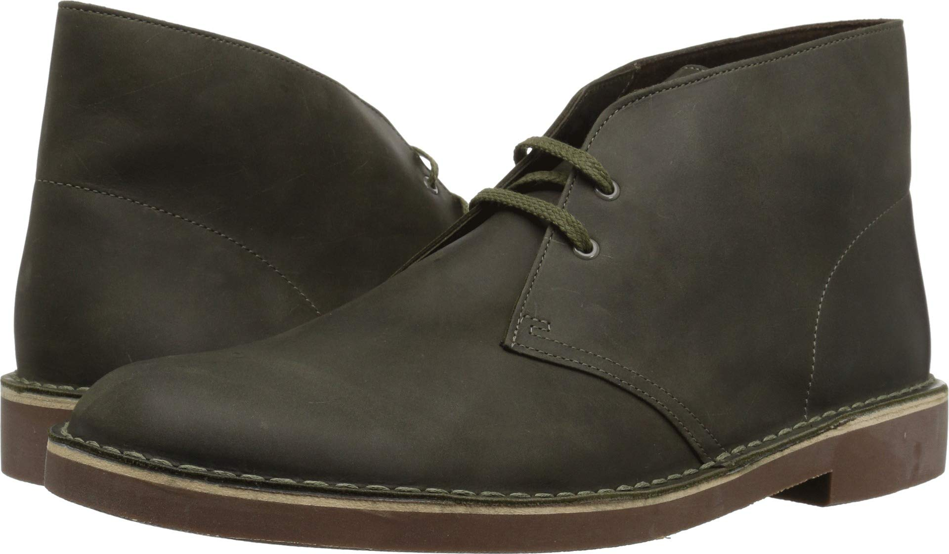 CLARKS Men's Bushacre 2 Boot, Dark Olive Leather, 075 M US