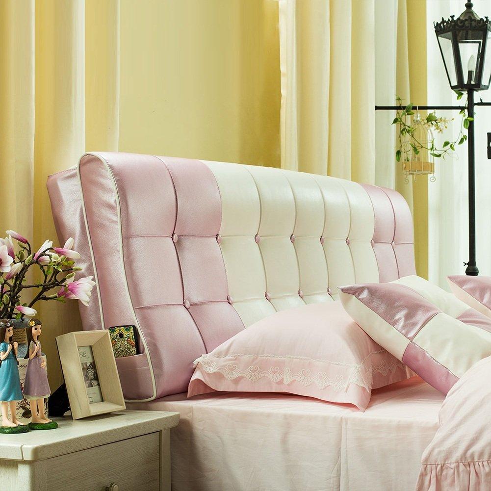 HAIPENG クッション ベッドの背もたれ ヘッドボード クッション ベッド バックレスト ベッドサイド カバー 大 布張り 腰椎 パッド ソファー 柔らかい 快適、 6色、 マルチサイズ (色 : Pink, サイズ さいず : 120x12x58cm) B07F5C5WFR 120x12x58cm Pink Pink 120x12x58cm