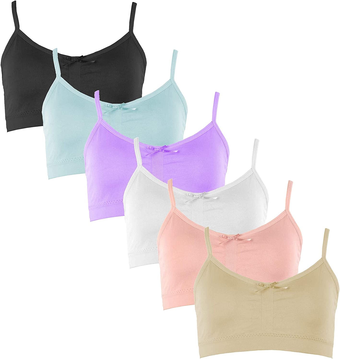 Value Pack Popular Girls Seamless Cami Bra with Removable Padding