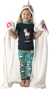 Lazy One Animal Blanket Hoodie for Kids, Hooded Blanket, Wearable Blanket