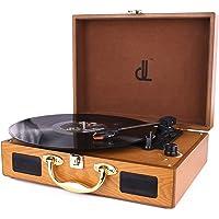 D&L SOUL レコードプレーヤー スーツケース型 USB端子(ブラウン)