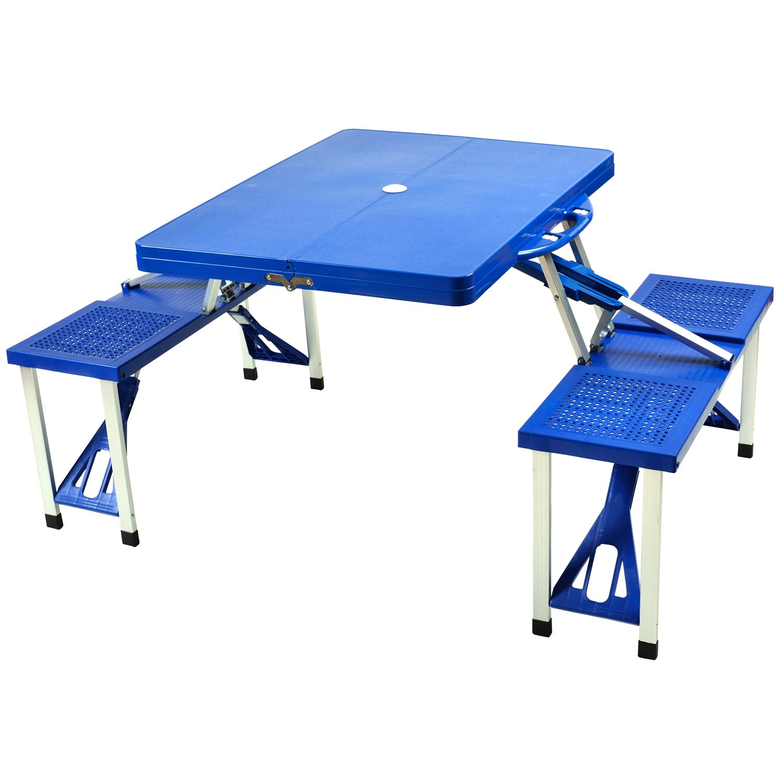 Amazon.com : Picnic At Ascot Portable Folding Outdoor Picnic Table With 4  Seats   Royal Blue : Patio, Lawn U0026 Garden