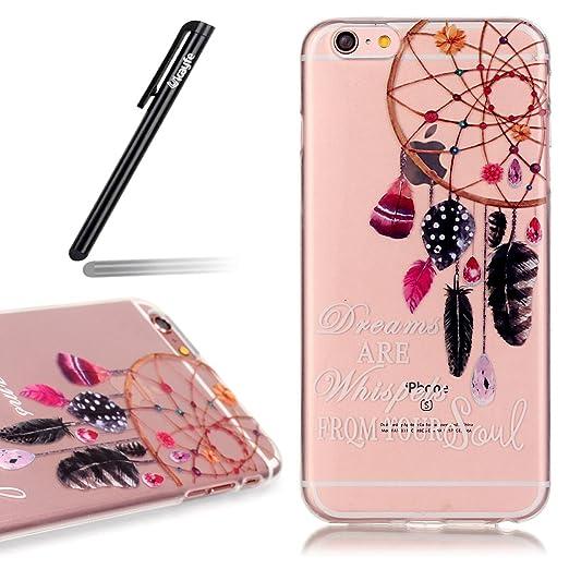 19 opinioni per iPhone 6/6S 4.7 Custodia,Ukayfe Premium Transparent Dipinto Chiaro Case Cover