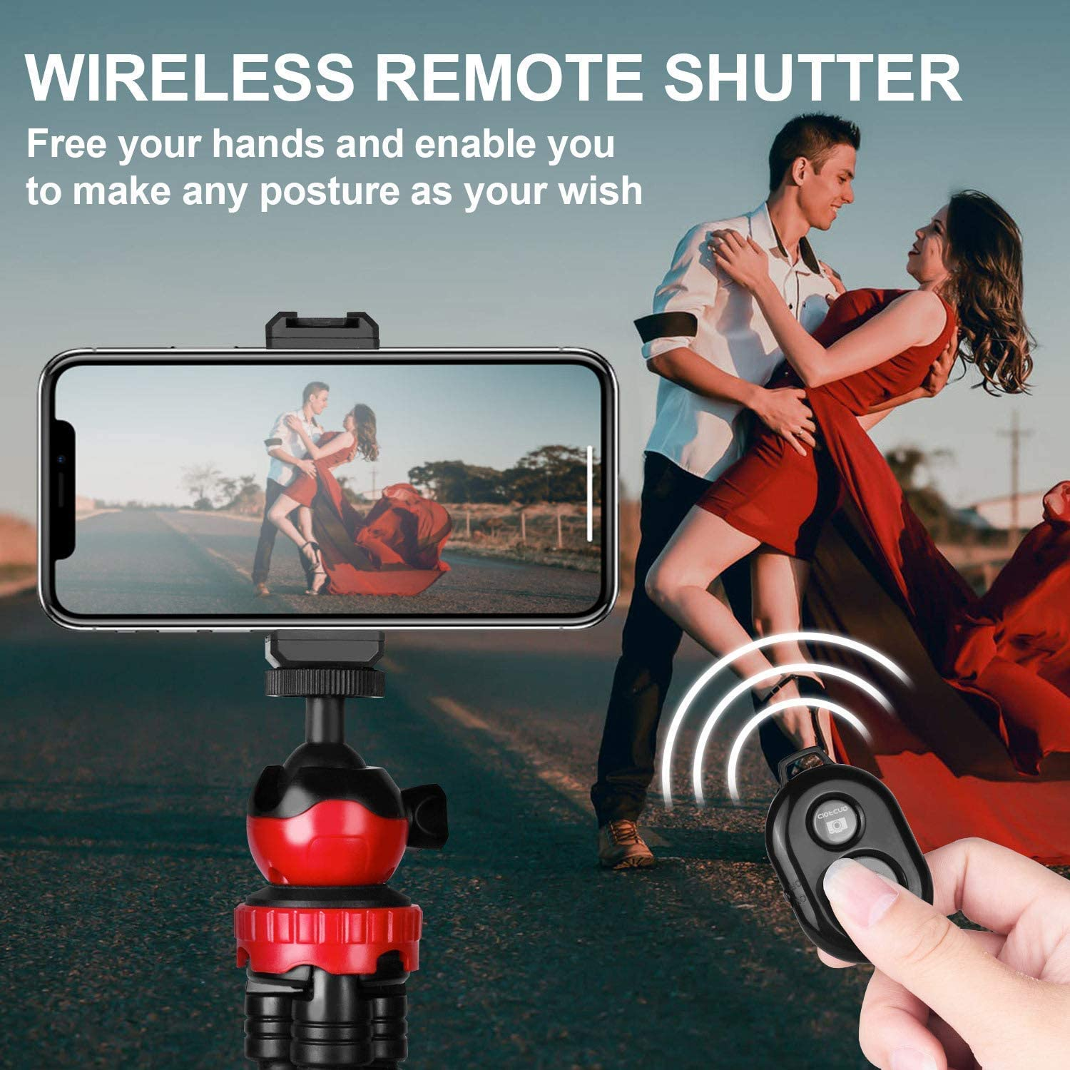 Camera Tripod Flexible Phone Tripod Lightweight Action Camera Tripod DSLR Tripod Octopus Travel Tripod Stand Works on All Smartphones and Cameras
