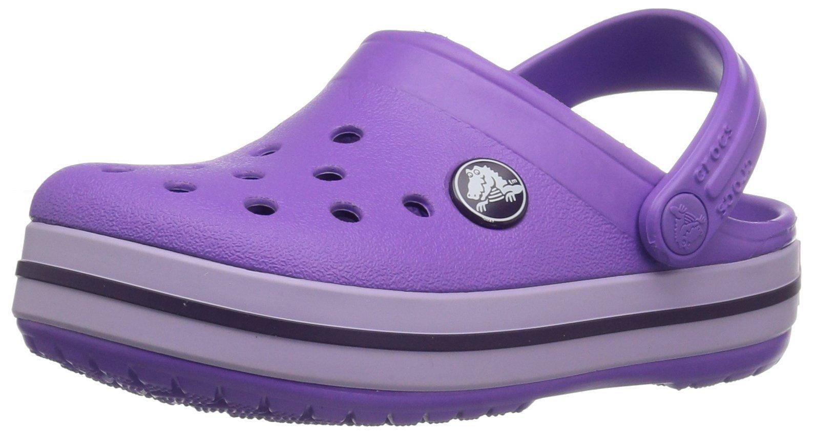 Crocs Unisex Crocband Clog K, Purple, 3 M US Little Kid