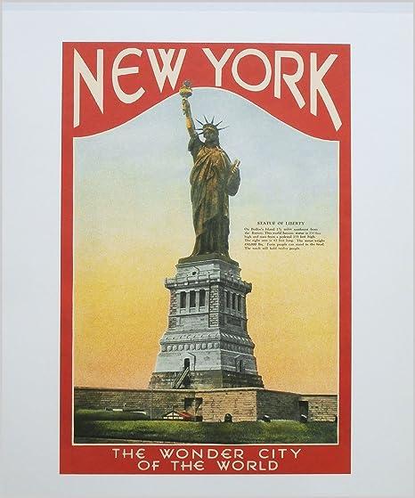 Art Deco Poster New York.Amazon Com New York Art Deco Poster New York The Wonder City Of
