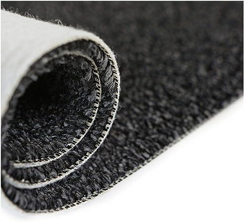 BARGAIN Black Silver Heather Twist Pile 3m x 4m Felt Back Carpet Remnants