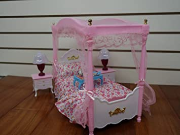 barbie size dollhouse furniture master bed room set by huaheng toys amazoncom barbie size dollhouse