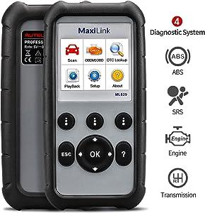 Autel OBD2 Scanner Diagnostic Code Reader ML629 - ABS/SRS/Engine/Transmission MaxiLink 629 Car Diagnostic Tool DTC Lookup AutoVIN Mechanic Car OBDii for Vehicle Engine/Transmission/AirBag/Brake System