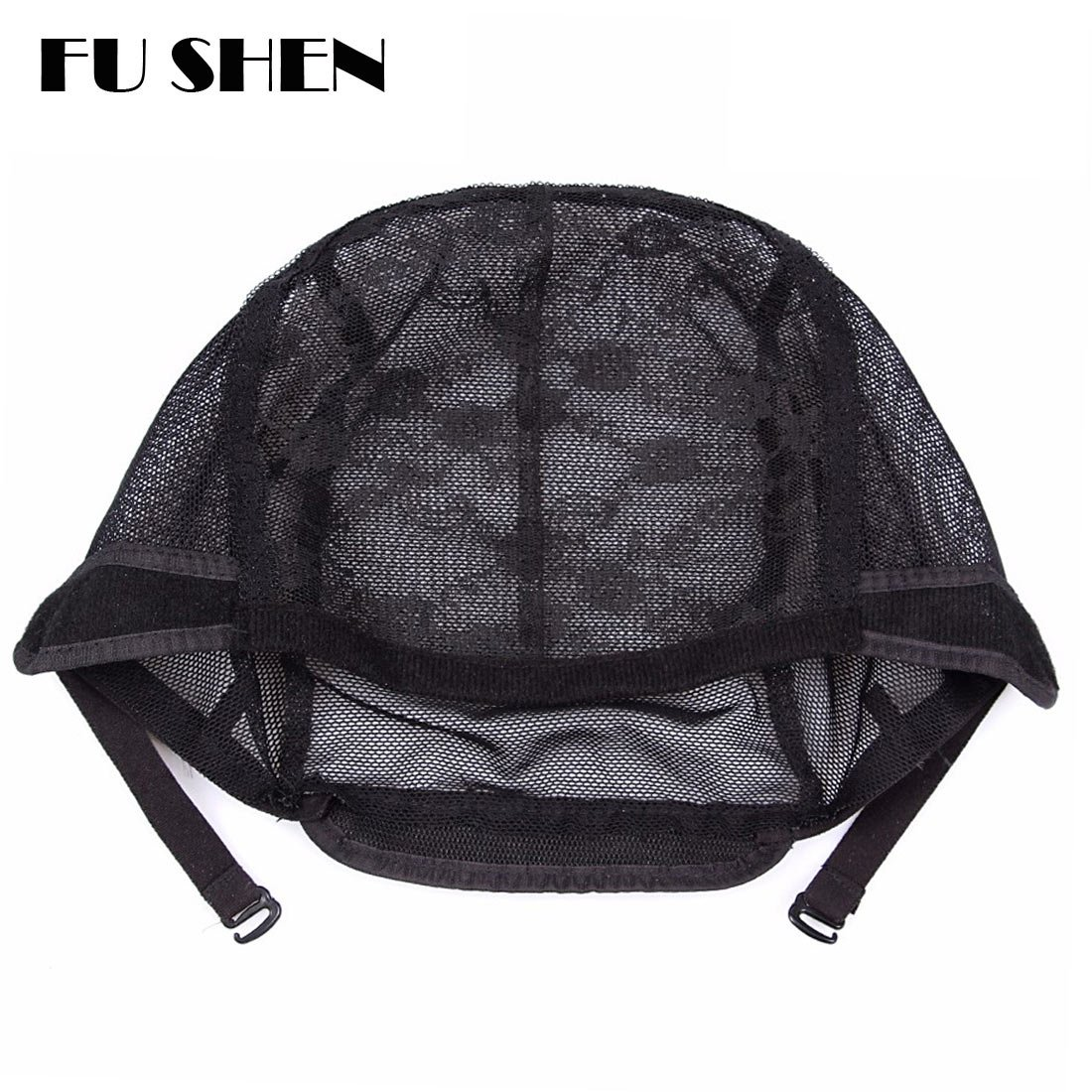 Elastic Wig Caps For Making Wigs Stretch Lace Weaving Cap Extra Large For Big Head with Adjustable Straps and Combs (Black 1 Piece XL-23Inch) by FU SHEN (Image #5)