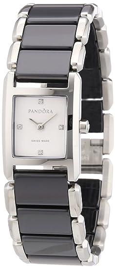 Pandora 811023WH - Reloj analógico de mujer de cuarzo con correa de acero inoxidable multicolor: Amazon.es: Relojes