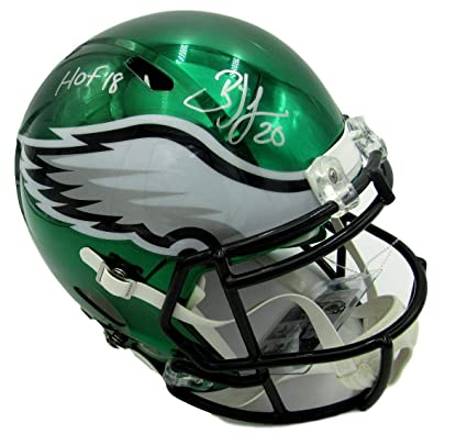 66afd793860 Brian Dawkins Autographed Helmet - HOF Full Size Speed CHROME Replica - JSA  Certified - Autographed