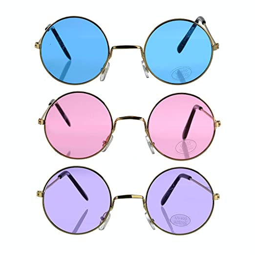 1b5fea7e94867 Amazon.com  3 PACK Retro Sunglasses