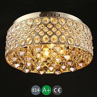 4 E14 Kristallkronleuchter Led Deckenleuchte Kristall Deckenlampe