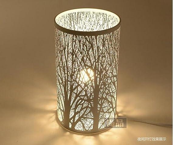 hrmaoi®, Creux, tallado, lámpara de mesa, lámparas blancas ...