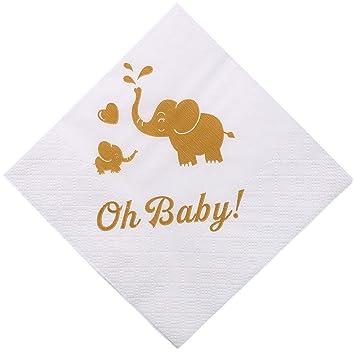 Amazon.com: Oh bebé servilletas, lámina de oro Stamping ...
