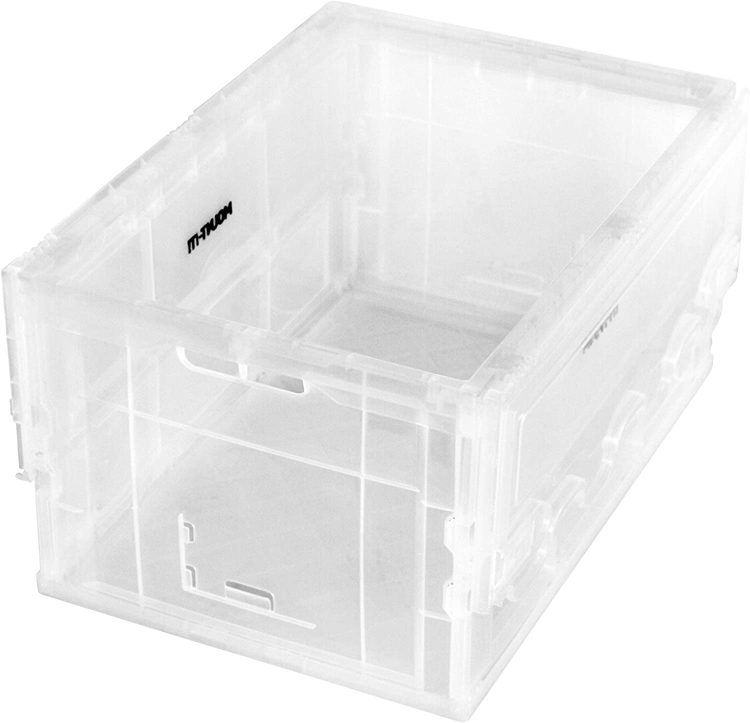 MOUNT-IT! Collapsible Storage Bin with Lid [65 Liter] Folding Crate, Plastic Container, Trunk Storage, Box (23x15x13 Inches)