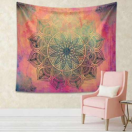 Jescrich Indian Bohemian Tapestry Wall Hanging Large Floral Psychedelic Mandala Tapestries for Dorms L, 1 Snowflake