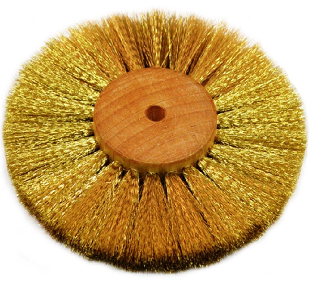 Brass Wire Brush Strands .004'' X 4'' Diameter Crimped 4 Row